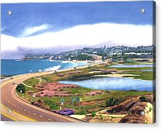 San Elijo And Hwy 101 Acrylic Print by Mary Helmreich
