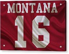 San Francisco 49ers Joe Montana Acrylic Print by Joe Hamilton