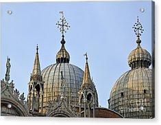 San Marco Basilica Acrylic Print by Sami Sarkis