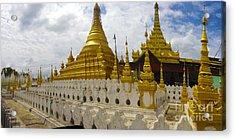 Acrylic Print featuring the photograph Sandamuni Pagoda Mandalay Burma by Ralph A  Ledergerber-Photography
