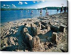 Sandcastle On The Beach Acrylic Print