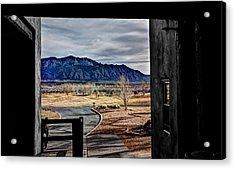 Sandia Mountains Acrylic Print