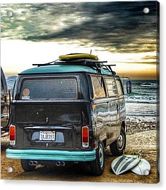 Sano Surf Bus And Boards Acrylic Print