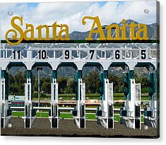 Santa Anita Starting Gate Acrylic Print
