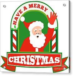 Santa Claus Father Christmas Retro Acrylic Print by Aloysius Patrimonio