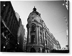 Santiago Stock Exchange Building Chile Acrylic Print by Joe Fox