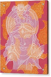 Saraswati Acrylic Print by Jennifer Mazzucco