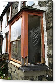 Sash Window Refurbishment Acrylic Print by Cordelia Molloy