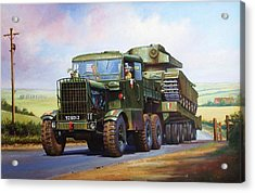 Scammell Explorer. Acrylic Print by Mike  Jeffries