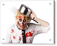 Scary Cook Making Mess With Jam Acrylic Print by Jorgo Photography - Wall Art Gallery