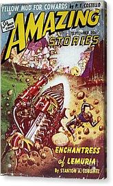Sci-fi Magazine Cover 1941 Acrylic Print by Granger