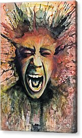 Scream Acrylic Print by Michael Volpicelli