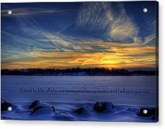 Scripture Photo Acrylic Print