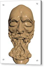Sculpture Acrylic Print by Moshfegh Rakhsha