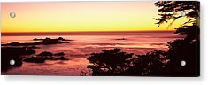 Sea At Sunset, Point Lobos State Acrylic Print by Panoramic Images