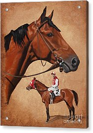 Seabiscuit Acrylic Print by Pat DeLong