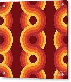 Seamless Geometric Vintage Wallpaper Acrylic Print
