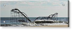 Seaside Heights Roller Coaster  - Paint Acrylic Print by Sami Martin