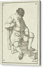 Seated Farmer With Pitcher, Cornelis Ploos Van Amstel Acrylic Print