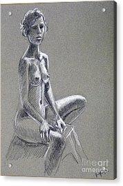 Seated Female Model Acrylic Print