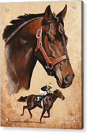 Seattle Slew Acrylic Print by Pat DeLong