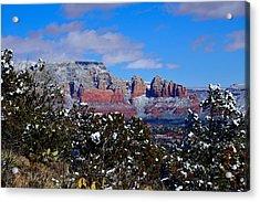 Sedona Snow Acrylic Print