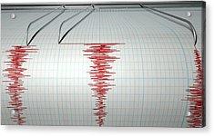 Seismograph Earthquake Activity Acrylic Print
