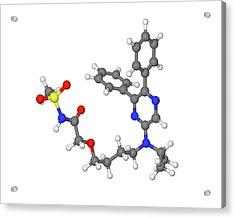 Selexipag Blood Pressure Drug Molecule Acrylic Print by Dr Tim Evans