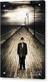 Senior Male Standing On A Pier Promenade Acrylic Print by Jorgo Photography - Wall Art Gallery