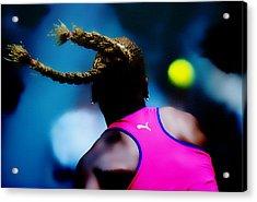 Serena Williams Return Acrylic Print by Brian Reaves