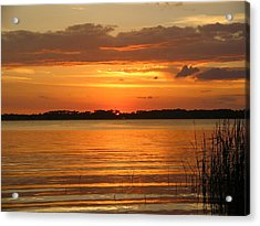 Setting Sun In Mount Dora Acrylic Print