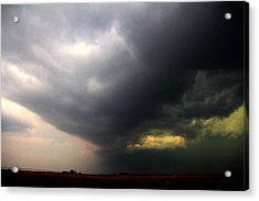 Acrylic Print featuring the photograph Severe Cells Over South Central Nebraska by NebraskaSC