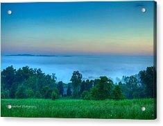 Shaconage Land Of The Blue Smoke Acrylic Print by Paul Herrmann