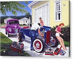 Shade Tree Mechanic Acrylic Print by Bruce Kaiser