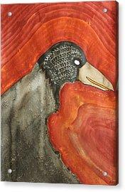 Shaman Original Painting Acrylic Print by Sol Luckman