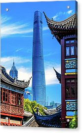 Shanghai Tower, Second Tallest Building Acrylic Print by William Perry