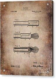 Shaving Brush Diagram 1920  Acrylic Print