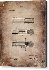 Shaving Brush Diagram 1920  Acrylic Print by Lesa Fine