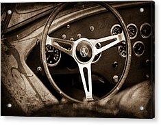 Shelby Ac Cobra Steering Wheel Emblem Acrylic Print