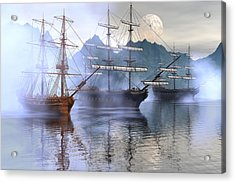 Shelter Harbor Acrylic Print by Claude McCoy