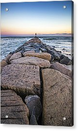 Shinnecock Inlet Jetty Acrylic Print