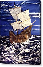 Ship Acrylic Print by Angela Stout
