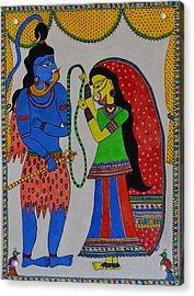 Shiv Parvati Acrylic Print by Shruti Prasad
