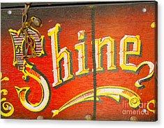 Shoe Shine Kit Acrylic Print by Pamela Walrath