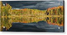 Shoreline Of Red Jack Lake At Sunrise Acrylic Print
