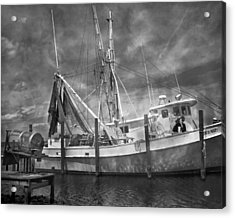 Shrimpin' Boat Captain And Mates Acrylic Print by Betsy Knapp