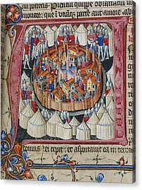 Siege Of Jerusalem Acrylic Print by British Library