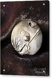 Silver Bird Acrylic Print