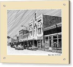 Silver City New Mexico Acrylic Print by Jack Pumphrey