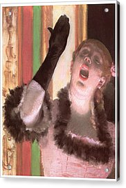 Singer With A Glove Acrylic Print